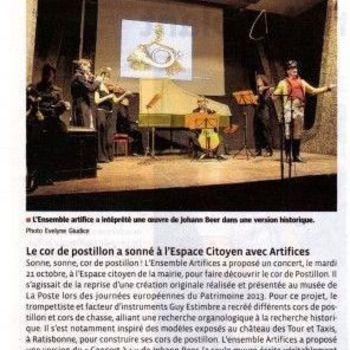 Ensemble Artifices - Article