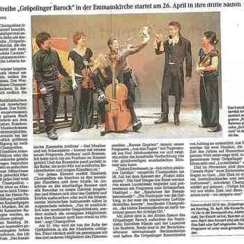 Ensemble Artifices - Artikel GB WK April 2015