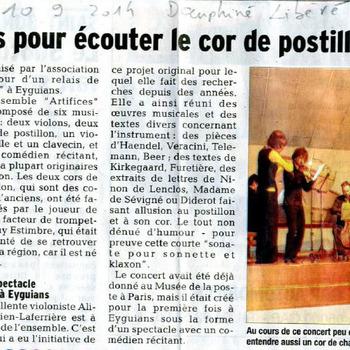 Ensemble Artifices - Le Dauphiné Libéré