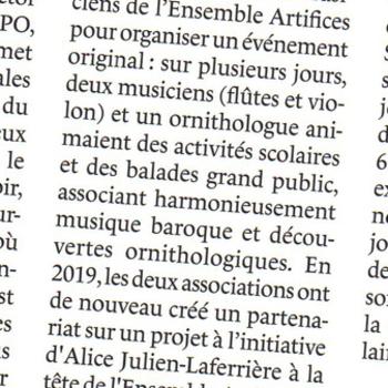 Ensemble Artifices - L'Oiseau Mag