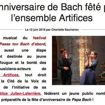 Ensemble Artifices - Papa Bach article Toulouse